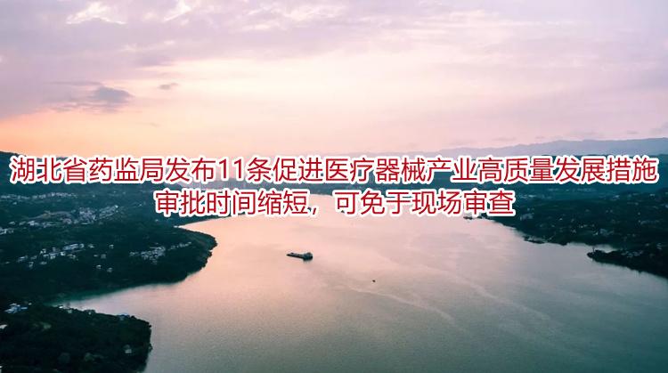 湖北省药监局发布11条促进医疗器械产业高质量发展措施 审批时间缩短,可免于现场审查